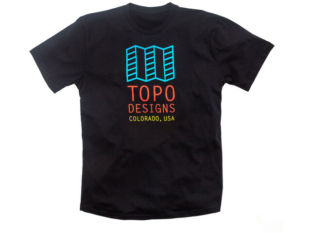 Topo Designs Original Logo Tee Herr black
